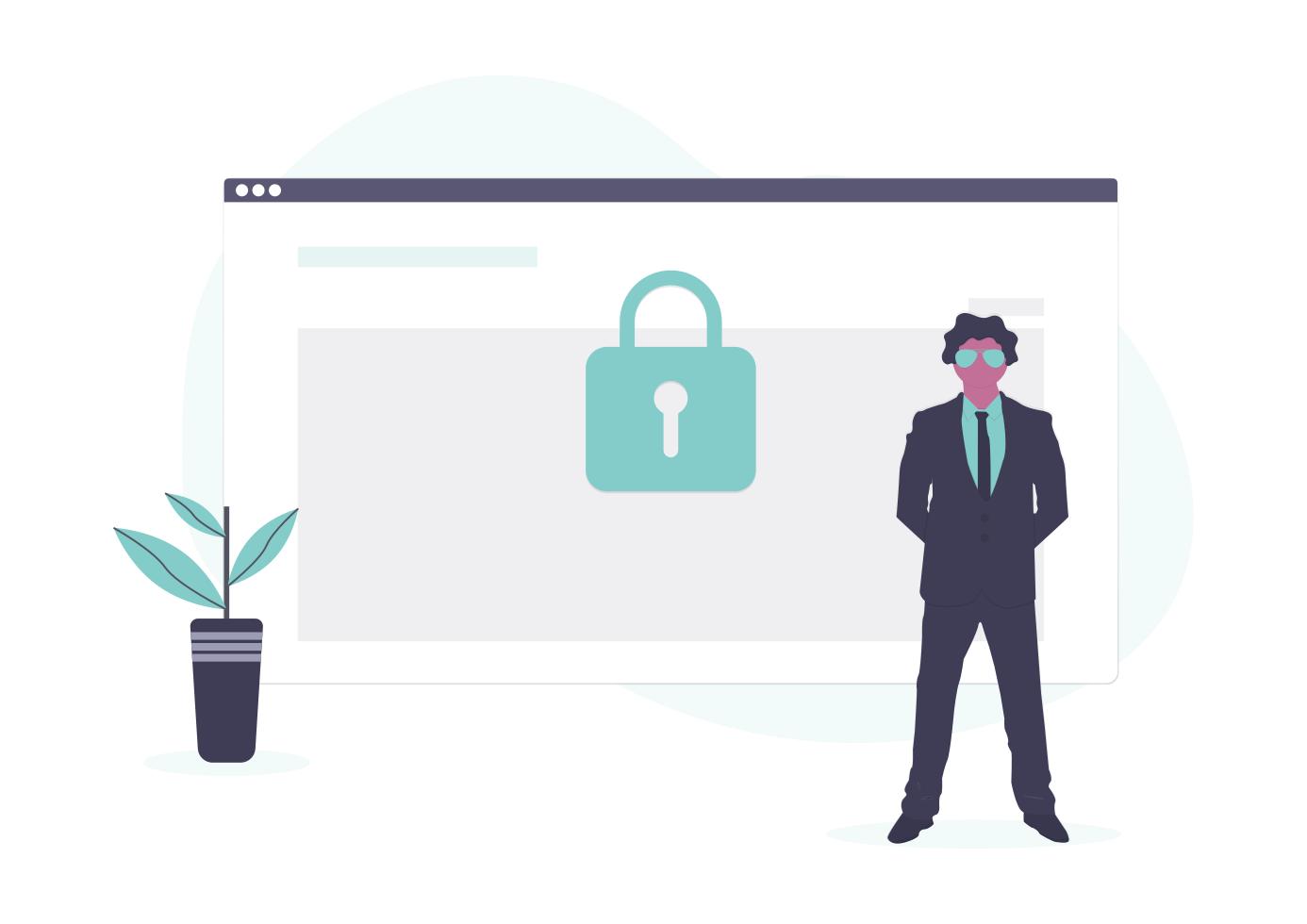パソコン画面のセキュリティの画像
