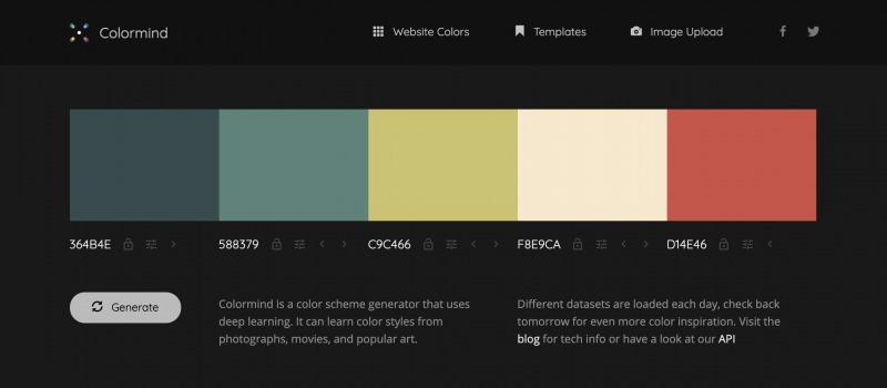 Colormindカラーマインドのトップページ