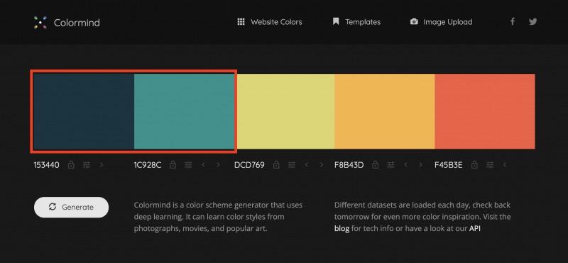 配色ツールColormindのグラデーションの仕組み1
