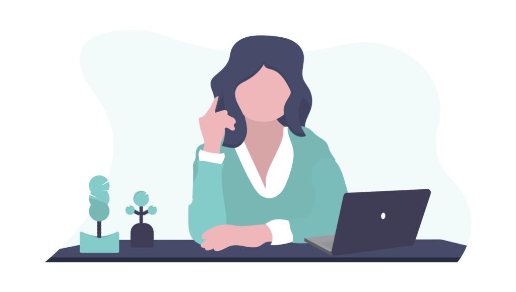 web会議で使えるデスクライトの選び方を教えてくれる女性