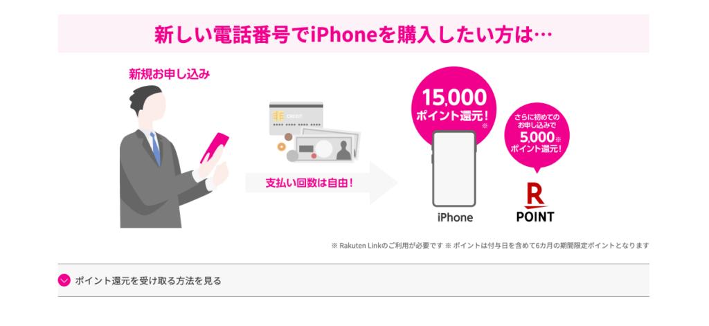 iPhone購入し楽天モバイル新規申し込み